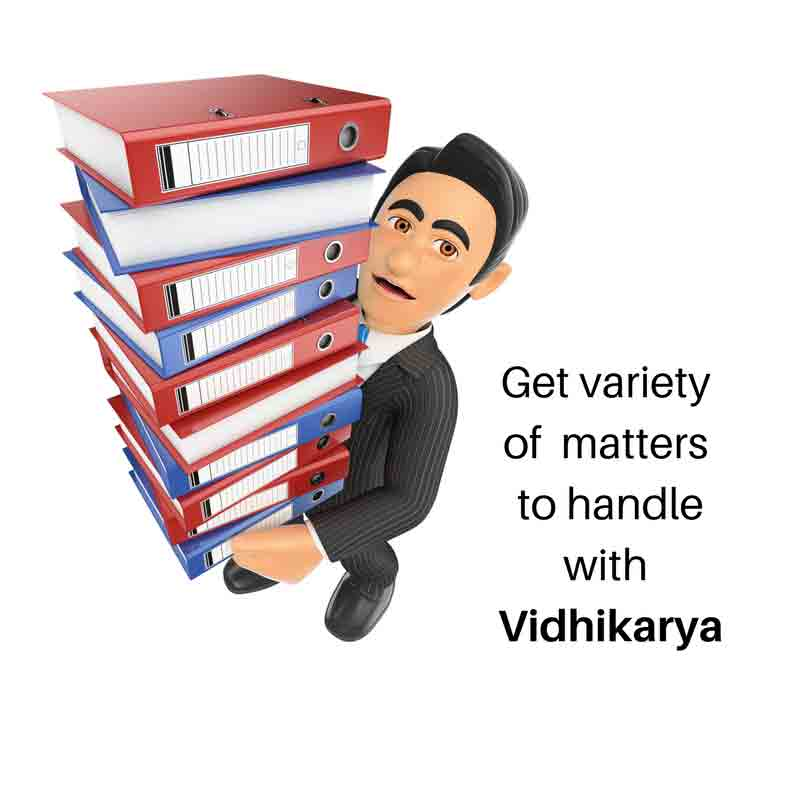 Get veriety of matters to handle with Vidhikarya
